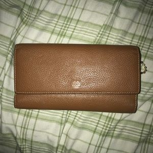 Used leather coach wallet